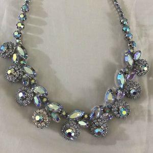 Vintage 50's Floral Crystal Choker Necklace.